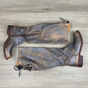 Bed Stu Manchester Tall Distressed Riding Boots 7